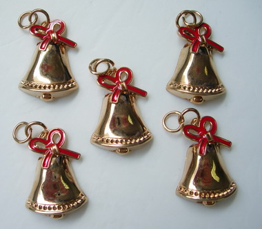 BK53 Jingle Bell Charm Pendant Jewellery x5
