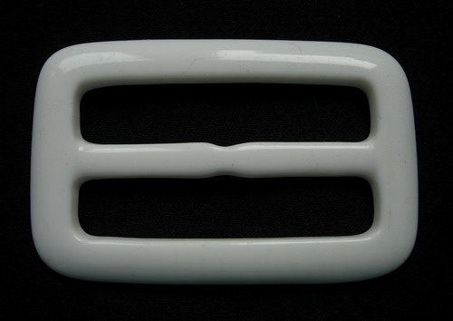 LU09 Off-White Rectangular Lucite Belt Buckle for Belt Strap