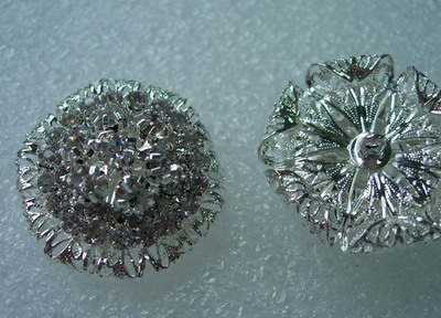 CY04 30mm Crystal Rhinestones Button Knot Jewelry Layered Flower