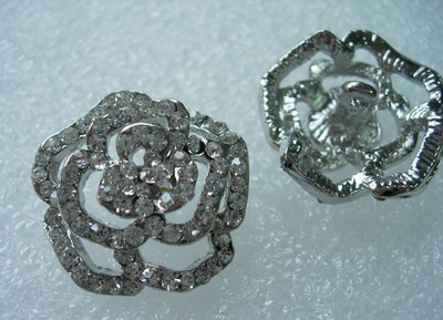 CY06 27mm Crystal Rhinestones Button Knot Jewelry Rose Style