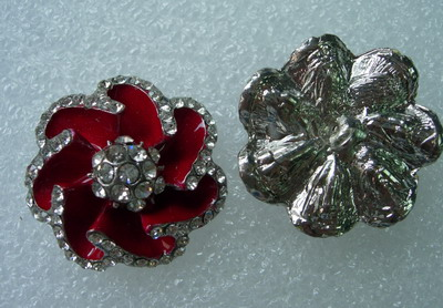CY07 32mm Crystal Rhinestones Button Knot Jewelry Rose Flower