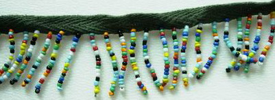 FR68 Multi Color Glass Beaded Fringe Fashion/Lampshade/Curtain