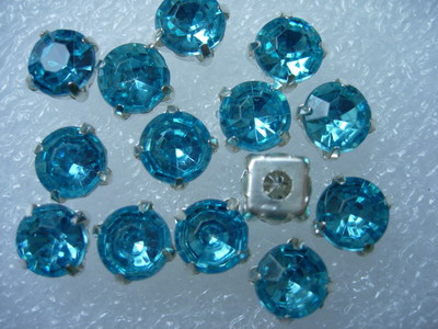 RM45 SS38 8mm AquaAcrylic Round Gemstones with Setting x20