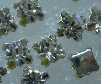 RM02 SS28 6mm Round Rhinestones Diamante with Settings 20pcs