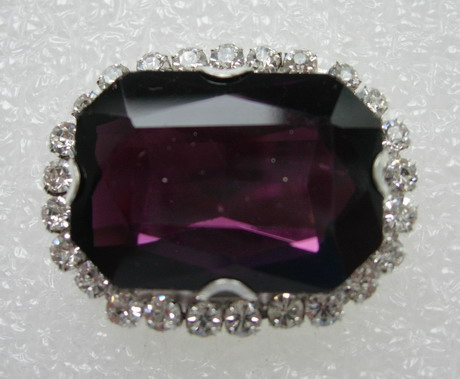 RM119 18x25 Octagon Gemstone Diamante w/Setting Jewelry Amethyst