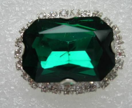 RM121 18x25 Octagon Gemstone Diamante w/Setting Jewelry Teal