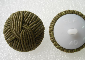 DM03 27mm Navy Green Braided Dome Buttons Knots w/Shank 5pcs