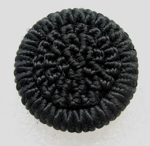 DM22 33mm Braided Dome Buttons Knots Black 5pcs