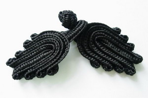 FG16 Classic Chinese Frog Closure Buttons Knots Black 10pairs - Click Image to Close