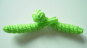 FG168 Lime Green Twist Chinese Frog Closure Buttons Knots 10pr
