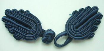 FG194 Big Trendy Chinese Frog Closure Knots Buttons Navy Blue 5r