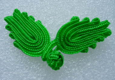 FG32 Classic Chinese Frog Closure Buttons Knots Green 10pr