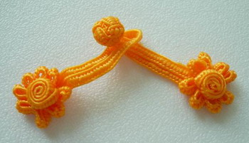 FG266 Mini Flower Frog Closure Buttons Knots Orange Doll/Toy10pr
