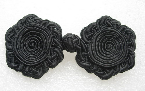 FG285 Big Celtic Braided Coils Frog Closure Buttons Knots x4pr