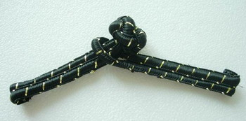 FG309 Traditional Chinese Frog Closure Buttons Knots Black 10pr
