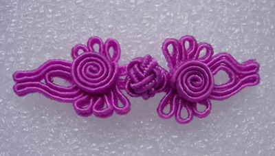 FG315 Purple Dragonfly Frog Closure Knots Folk Jewelry x5