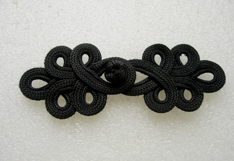 FG358 Black Loops Corded Closured Knot Button