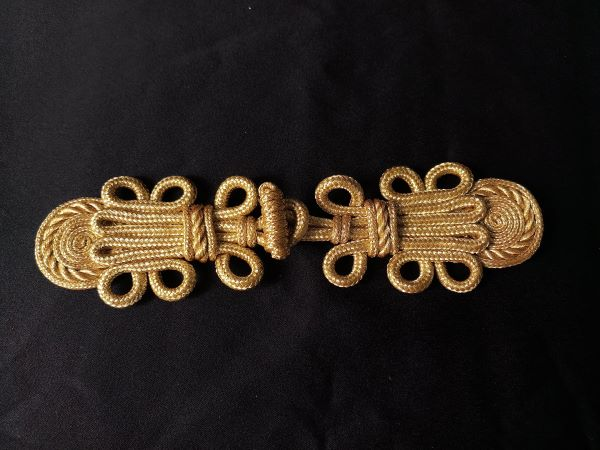 FG364 Stylish Floral Corded Braided Closured Knot Fastener
