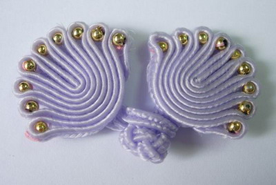 FG75-10 Lavender Chinese Frog Closure Buttons Knots (Fan) 5pr