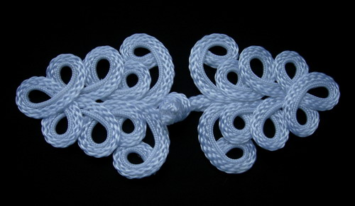 MR04 Macrame Fastener Frog Closure Knot Button White
