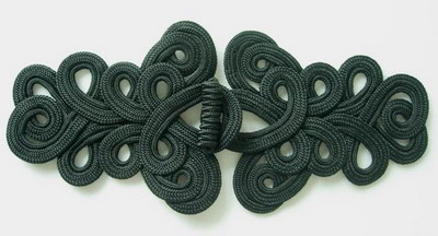 MR06 Cord Macrame Fastener Frog Closure Knot Ornament Black