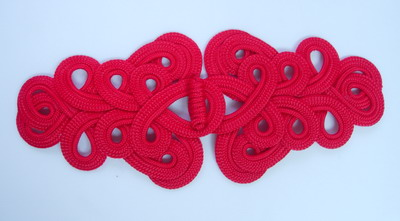 MR08-6 Red Macrame Fastener Closure Knot Buckle