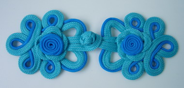 MR132 2Tone Blue Rose Loops Macrame Corded Closure Knots