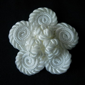MR137 Star 3D Braided Corded Applique Decoration Scrapbook Cream