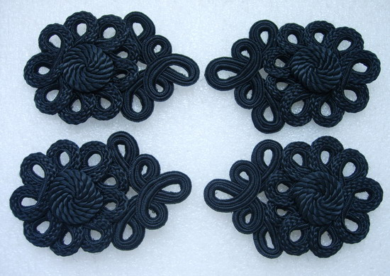 MR157 Floral Corded Braided Epaulette Shoulder Applique 4pcs