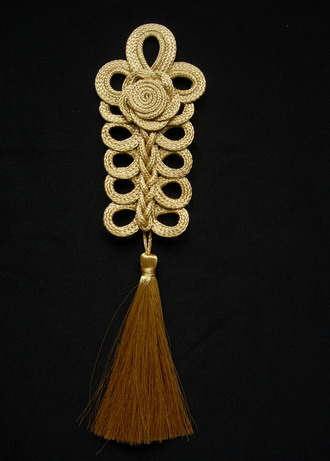 MR170 Gold Rose Loopy Corded Braided Tassels Jewelry Decoration