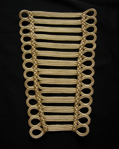 Metallic Gold Trapezoid Loops s Braided Corded Motifs