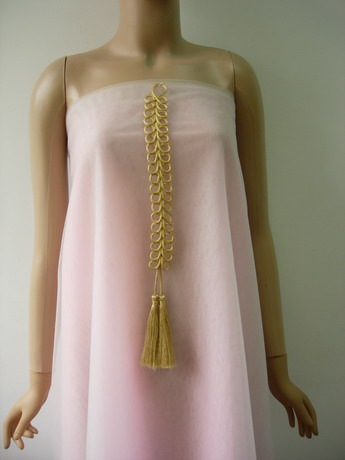 MR201 Long Gold Loops Corded Braided Tassels Fringe jewelry