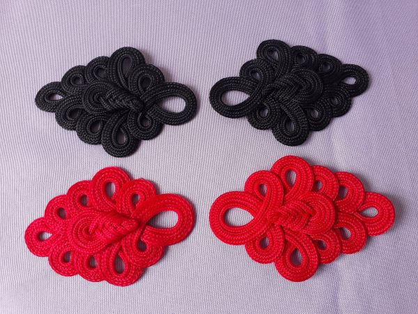 MR217 Loopy Floral Cord Braided Epaulette Shoulder Applique 4pc
