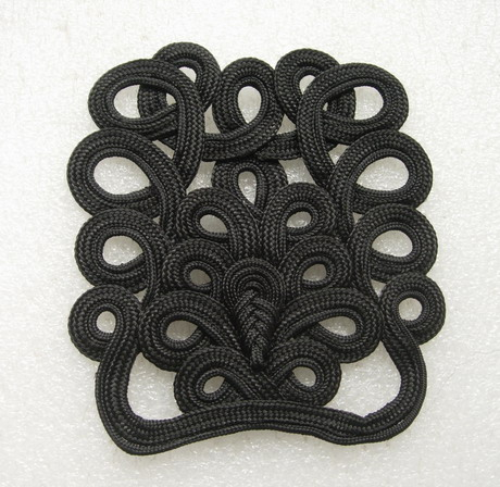 MR63-3 Loops Celtic Corded Applique Motif Decoration Black