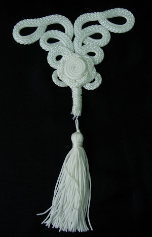 MR80 Macrame Ornament Cushion Curtain Tassel White