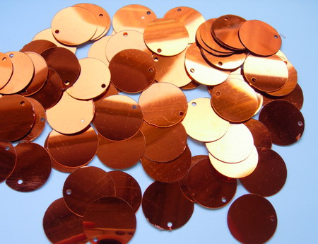 PI11 20mm Round Paillettes Sequins w/Hole Brass 200pcs/pack