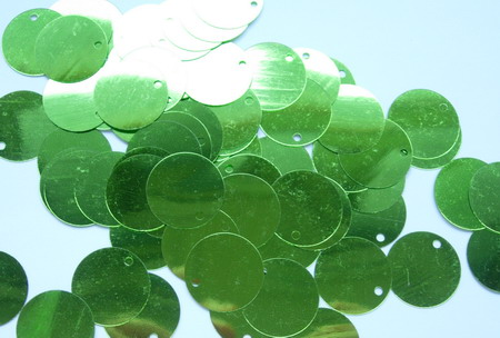 PI13 20mm Round Paillettes Sequins w/Hole Lime 200pcs/pack