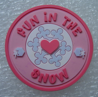 "RB04 ""Fun in The Snow"" LOGO 3D PVC Rubber Patch Kid/Cute"