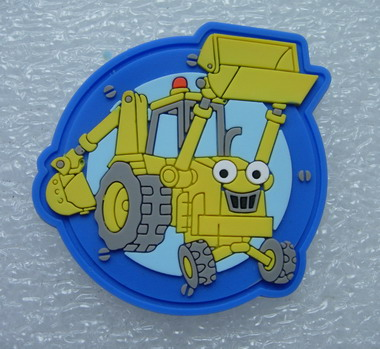 RB13 Bulldozer Loader Cartoon 3D PVC Rubber Patch