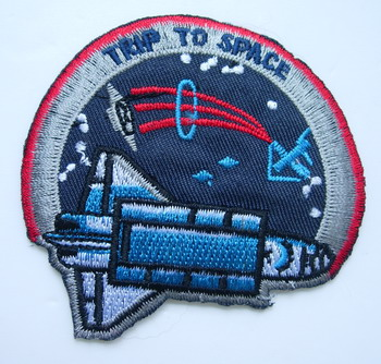 AS02 Trip To Space Shuttle Embroidery Patch Applique IronOn NASA