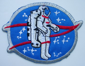 AS03 Astronaut Space Embroidery Patch Applique Iron On NASA