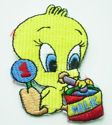 PC12 Tweety Bird Embroidery Patch Applique Iron On