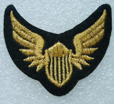 PC131Air Force Pilot Wings Embroidery Patch Badge Gold 2pcs