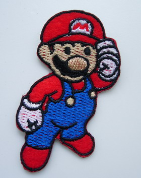 PC140 Mario Bros Embroidered Patch Applique Iron On