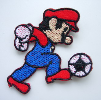 PC141 Embroidered Patch Applique Iron On Super Mario Bros