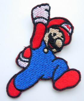 PC142 Cute Super Mario Bros Embroidered Patch Applique Iron On
