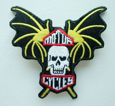 PC27 Motor Cycles Skull Devil Embroidery Patch Applique Iron On