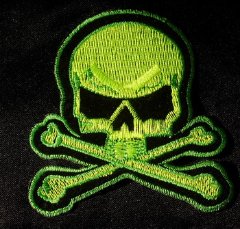 PC29 Biker Skull crossbones Embroidery Patch Applique Iron On