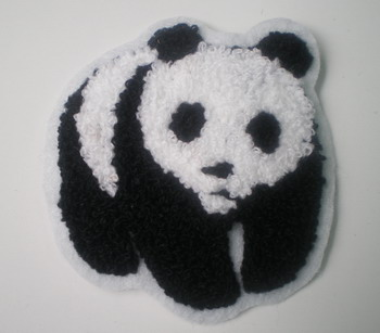 PC62 Panda Patch Iron On Furry Applique
