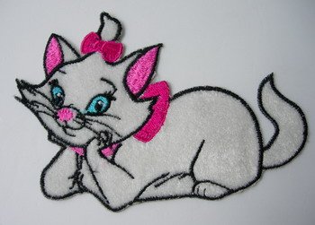 PC72 Marie Cat Embroidered Patch Applique Iron On